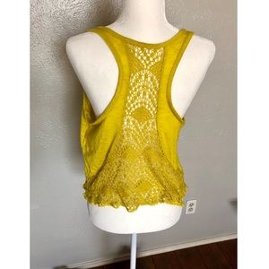 Roxy tank with crocheted details